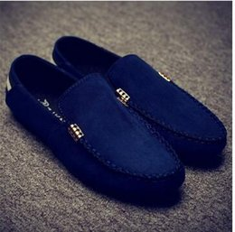 Wholesale Red Foot Pedal - 2016 Fall Doudou shoes men's casual footwear sets the British foot slippers men's shoes a pedal Korean lazy driving shoes