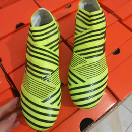 Wholesale Top Quality Slip Boot - 2017 Newest Mens Football Boots Nemeziz 17+ 360 Agility FG Soccer Shoes ACE 17 PureControl FG Soccer Cleats Top Quality Football Cleats