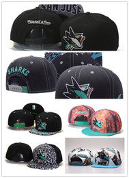 Wholesale Snapback Caps Sharks - 2017 New Hot Sale San Jose Sharks Snapback Hats Sport Hockey Caps NHL Unisex Sports Women Casquette Men Casual Headware Adjustable Mix Order