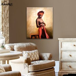Wholesale sexy nude painted girls - Sexy Nude Woman Art Wall Picture Canvas Print Beautiful Girl Painting for Bedroom Bar Hotel Home Decoration Unframed