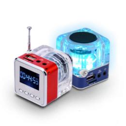 Wholesale Digital Mp3 Audio Player - Portable Mini Speaker Music MP3 4 Player Micro SD TF USB Digital Disk Speaker FM Radio LCD Display