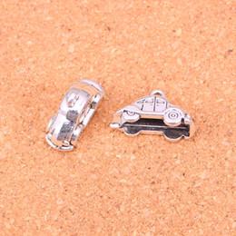 Wholesale Car Charms For Bracelet - 48pcs Antique Silver Plated car Charms Pendants for European Bracelet Jewelry Making DIY Handmade 23*15mm