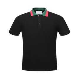 Wholesale Tiger Shirts For Men - New Luxury Brand embroidery t shirts for men Italy Fashion poloshirt shirt men High street Snake Little Bee Tiger print mens polo shirt