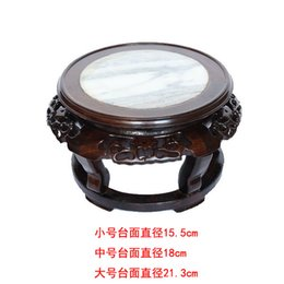 Wholesale Black marble wood wood carved handicraft decoration stone Buddha vase Home Furnishing jewelry base special offer