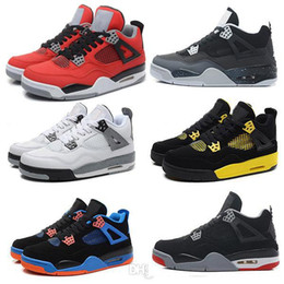 Wholesale Cheap Gold China - Cheap basketball shoes China Retro 4 Oreo fear Cement Sneaker Sport Shoe men and women hot Sale US size 8 - 13