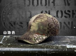 Wholesale Camouflage Caps For Sale - Hot Sale 2016 Military Outdoors Baseball Caps Tactical Boa Grain Bionic Camouflage Outdoors Bike Golf Sun Cosplay Hat For Men