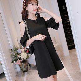 Nouvel été femmes robe bandage parti mode sexy, plus la taille mignonne  o-cou une ligne printemps brève coréenne noir rouge robes 626284a0372