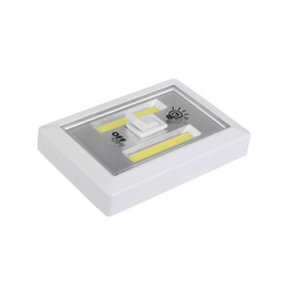 Wholesale Magic Candle Led - Magnetic LED Night Light Ultra Bright Mini COB Wireless Wall Light with Switch Magic Tape for Camp Lamp Indoor