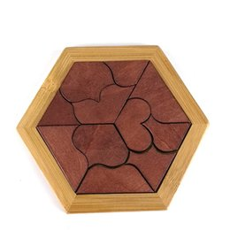 Wholesale Wood For Children - Montessori Wooden Tangram Jigsaw Board Educational Early Learning Wood Puzzles Game Toys for Children Kids Gifts