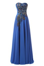 Wholesale Vintage Stock Images - 2017 In Stock Free Shipping Newest Sweetheart Long Prom Dresses Chiffon Appliques Floor-length Evening Dresses Prom Party Gowns
