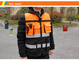 Wholesale High Visibility Motorcycle Vests - HZYEYO Reflective safety clothes Motorcycle Bicycle Racing High Visibility Reflective Warning Cloth Jacket Vest D9906