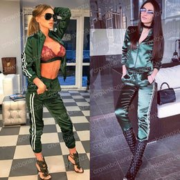 Wholesale Xl Womens Dress Pants - two piece set tracksuit women elegant top and pants set 2017 womens casual sweat suits fitness summer outfits