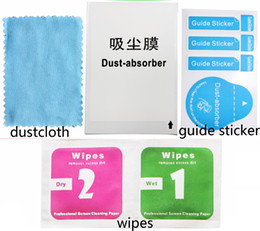 Wholesale Lcd Cleaners - Cleaning clothes Wet and Dry 2 in 1 of Wipes Dust-Absorber Guide Sticker for Cellphone LCD Tempered Glass Screen Protector Alcohol Cleaning