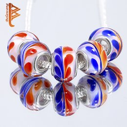 Wholesale European Bead Sterling Core - BELAWANG Brand New Mix Colors 925 Sterling Core Big Hole Loose Beads fit European Charm Jewelry DIY Making Bracelet Charms Free Shipping