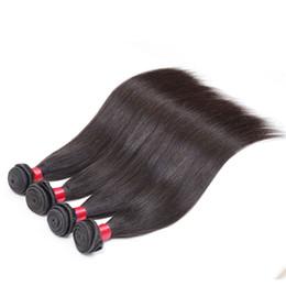 Wholesale Peruvian Hair Straight 4pcs - virgin brazilian straight hair weave 4pcs 7a Brazilian Virgin Hair Straight Peruvian Virgin Hair Indian Mongolian puruvian hair bundles