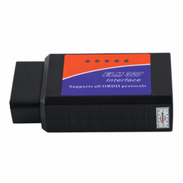 Wholesale Bmw Scanners - ELM 327 V2.1 Interface Works On Android Torque CAN-BUS Elm327 Bluetooth OBD2 OBD II Car Diagnostic Scanner tool
