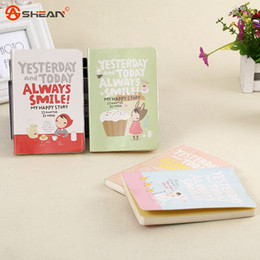 Wholesale Girls Journal - Wholesale-1 Piece Cute Diary Red Hat Girl 4 Types Notebook Journal Record Stationery Office School Supplies