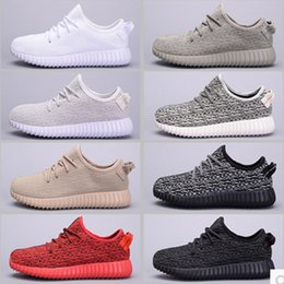 Wholesale Summer Cut Out Boots - Fashion shoes boots 350 coconut Kanye tide shoes casual shoes sport shoes new summer breathable mesh shoes