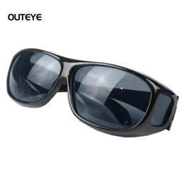 Wholesale Drivers Glasses - Wholesale-OUTEYE HD Night Vision goggles anti-glare Polarized Sunglasses Men Driving Glasses Sun Glasses UV Protection car drivers W0