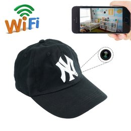 Wholesale Spy Hat Surveillance Camera - 32GB 1080P HD Wearable Cap P2P DVR Wifi Cap IP Camera Hat Spy Pinhole Camera Hidden Cap Portable DV Camcoder Wireless Surveillance DVR