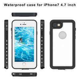 Wholesale Snow Proof Iphone Case - 2016 Waterproof Shockproof Dirt Snow Proof Durable Dot Case Cover for Apple iPhone 7 4.7'' 5.5'' 8 colors