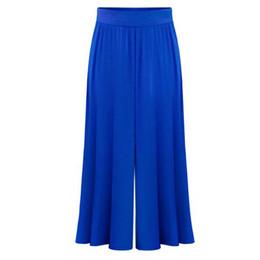 Wholesale Baggy Trousers Woman - Wholesale-Plus size XL-6XL Female Wide Leg Pants Nine pants Baggy Harem Pants Loose Pantalones Mujer Solid Trousers for Women 2016