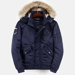 Wholesale Parka Men Big Fur - Casual Jacket Men Winter Parkas Coats Hooded Windbreaker Fur Collar Thicking Outwear Male Warm Clothes Snow Overcoat Clothing Big Size