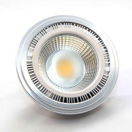Wholesale Lamp G53 - Ar111 COB LED Bulbs Light 12W E27 GU10 G53 LED Grill Lamp AC100-240V Aluminum Material ES111 DHL Fedex Free Shipping