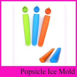Wholesale Ice Cream Push Pops - middle Size 15*3.5cm 4 Colors Silicone Popsicle Mold Push Up Homemade DIY Delicuous Ice Cream Jelly Lolly Pop Maker