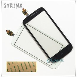fly phone screen Promo Codes - Wholesale- Syrinx 3M Tape Mobile Phone Touch Screen Digitizer Panel Replacement For Fly IQ4404 IQ 4404 Touchscreen Front Glass Lens Sensor