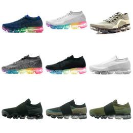 Wholesale Mens Leather Walking Shoes - Hot VAPORMAX 10X2018 Laceless Mens Running Shoes For Men Sneakers Women Fashion Athletic Sport Shoe Hiking Walking Outdoor Shoe