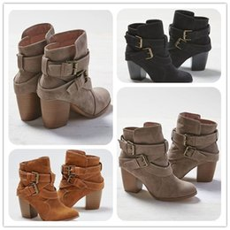 Wholesale Ladies Snow Shoes - Women Boots New Women Fashion Cross Bandage Boots Lady Girls Spring and Autumn Casual High Heel Boots Shoes Free Shipping