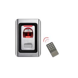 2019 impressão digital Atacado-Aço Inoxidável À Prova D 'Água de Metal Biométrico Sistema de Controle de Acesso por Impressão Digital Com Controle Remoto IR + 120 Impressão Digital