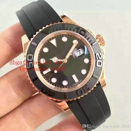 Wholesale Ceramic Fashion - Everose gold Rubber Oysterflex bracelet Fashion 40mm Ceramic Bezel Mens Watch 116655 Sports Men Automatic Self-Wind Watches