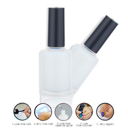 gel de gel gel uv Desconto Atacado-HNM 1pcs 15ml estrela Nail Art Glue para adesivos adesivos de transferência de decoração de unhas Manicure ferramentas adesivas