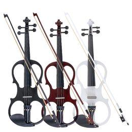 2019 partes de violino usadas 4/4 Violino Elétrico Bilateral Instrumento de Cordas de Violino Violino Basswood com Cabo de Acessórios Fone De Ouvido Caso para Os Amantes de Música Iniciantes