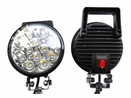 Wholesale Led Long Spotlights - 36W portable long power cable and switch off-road led spotlights patrol with search car lights rescue and maintenance service working lamp