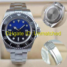 Wholesale deep bezel - Watches men luxury brand SEA-DWELLER DEEP Ceramic Bezel Stanless Steel 116660 Automatic Mechanical High Quality Business Casual mens Watch.