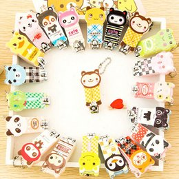 Wholesale Nail Clipper Animal - 60pcs Cute Cartoon Animal Pet Nail Clippers Scissors Manicure Tools Stainless Steel Mix Colors 3 Series To Choose