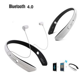 Wholesale Cool Ear Headphones - Wholesale-COOL!!sports wireless bluetooth headphone earphone for Samsung around the neck design bluetooth sports headset with microphone
