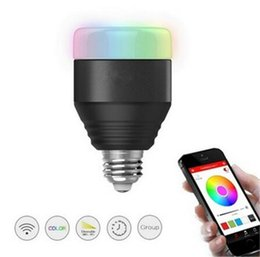 Wholesale Bedroom Group - Smart Bluetooth LED Light Bulbs Dimmable Color Changing Christmas Party lighting APP Smartphone Group Controlled