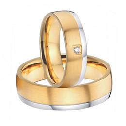Wholesale Set Mens Steel - 2015 beautiful mens and womens gold plated titanium steel wedding bands promise rings sets handmade custom alliances