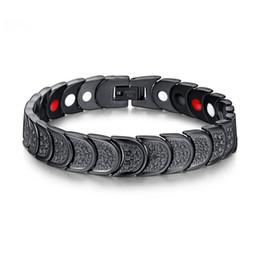 Wholesale magnetic clasps china - Fashion Health Energy Bracelet Bangle IP Black Plating Magnetic Germanium Healthy Bracelet for Men Bio Magnetic Bracelet Jewelry B820S