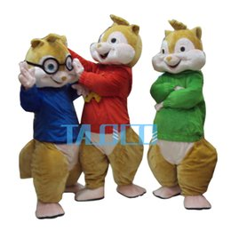 Wholesale Blue Green Music - 2014 Hot Sale ! New Alvin and the Chipmunks Mascot Costume Alvin Mascot Costume Free Shipping