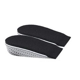 Wholesale Shoe Insoles Heels - S5Q Men Women Cozy Breathable Heel insert Increase Taller Height Lift Shoe Insole AAAGBY