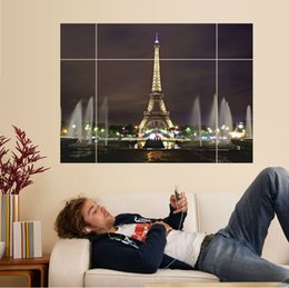 Wholesale Eiffel Wall Decor - free shipping 1 PCS Home Wall Removable Stickers Eiffel Tower Decals Art Decor 70 X100CM #92548