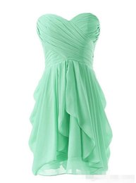 Wholesale Yellow Coctel Dresses - Free Shipping fashion elegant short prom dress 2016 Homecoming Dresses sweetheart pleat chiffon simple women coctel dresses for formal party
