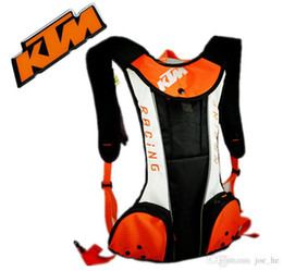 Wholesale Nylon Carrier Bags - New 2016 KTM Motorcycle Backpack Moto bag Waterproof shoulders reflective Water bag motocross racing package Travel bags Free Shipping