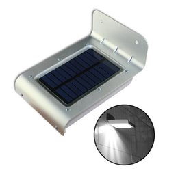 Wholesale Wall Light Motion - 16 LED Solar Power Light Outdoor Waterprof Body Motion Sensor Wall Lamp Camping Garden Light Energy-saving Lamps Warm   Pure   Cold White