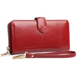Wholesale Hand Mobile Phone Holder - Designer Wallet Ladies Hand Clutch Bags Women PU Leather Bag Mobile Phone Card Holder Bags Long Purse Female Wallet New Zipper Bag